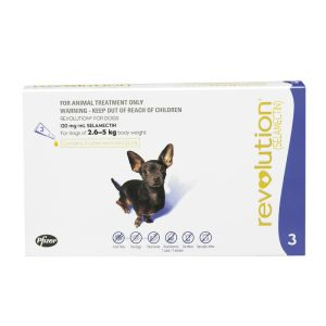 I246826-Revolution Flea Treatment For Dogs 2.6-5kg - 3 Pack