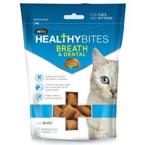 I246635-M&c Vetiq Healthy Bites Breath & Dental Indoor Cat Treats