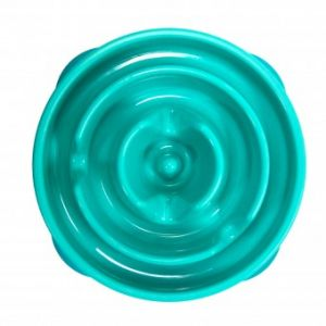 I247088-Outward Hound Fun Feeder Dog Bowl Teal Mini