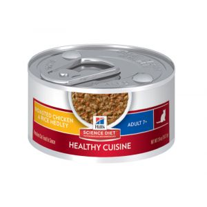 I246716-Hills Science Diet Healthy Cuisine Chicken & Rice 7+ Adult Cat Food 79g