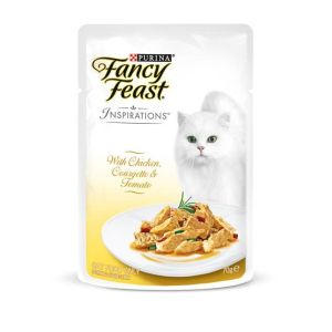 I247613-Fancy Feast Inspirations Chicken Courgette & Tomato Cat Food - 70g