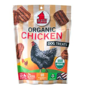 I176648-Plato Real Strips Organic Chicken Dog Treats 170g