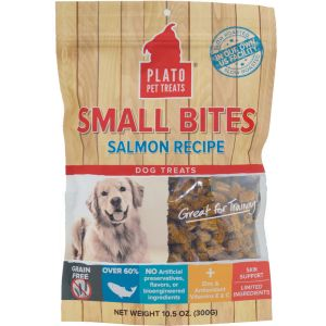 I246548-Plato Small Bites Salmon Recipe Dog Treats 300g