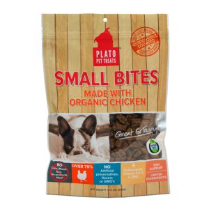 I246568-Plato Small Bites Organic Chicken Dog Treats 300g