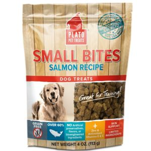 I246569-Plato Small Bites Salmon Recipe Dog Treats 113g