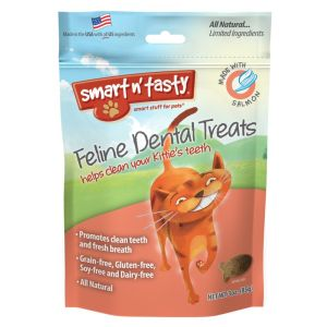 I247666-Emerald Feline Dental Treats Salmon Cat Treats 85g