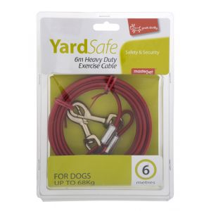 I247952-Yours Droolly Tie Out Cable 6m For Large To Extra Large Dogs