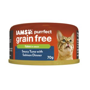 I247428-Iams Cat Grain Free Tuna And Salmon Can 70g