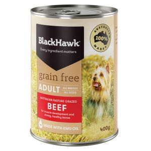 I248231-Black Hawk Beef Grain Free Dog Can 400g