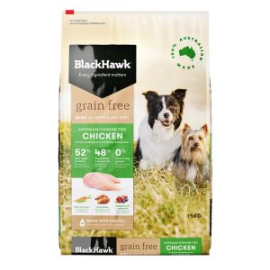 I248218-Black Hawk Chicken Grain Free Dog Food 15kg
