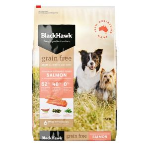 I248224-Black Hawk Salmon Grain Free Dog Food 15kg