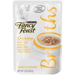 I247645-Fancy Feast Broths Creamy Tuna Chicken And Whitefish Cat Food 40g