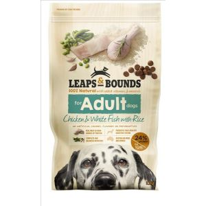 I242133-Leaps & Bounds Chicken And Fish Adult Dog Food 3.2kg