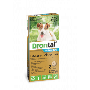 I246807-Drontal Worm Treatment For Dogs Under 10kg 2 Pack