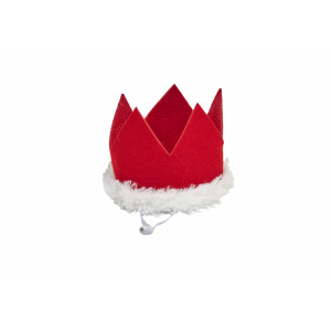 I251906-Joy Love Hope Santa Crown Pet Headpiece Red Xsmall-small