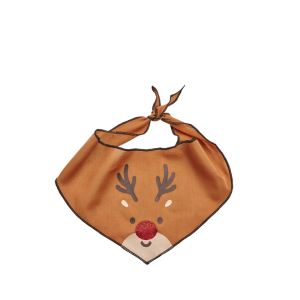 I251912-Joy Love Hope Reindeer Dog Bandana Brown Xsmall-small