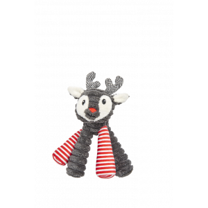 I251919-Harmony Reindeer Long Legs Dog Toy Grey 18cm