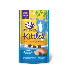 I247178-Wellness Kittles Chicken Flavoured Cat Treats - 56g