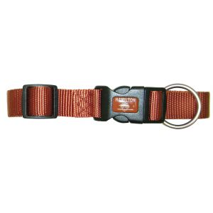 I248196-Hamilton Dog Collar Lux 10mm Rasberry 18-30cm