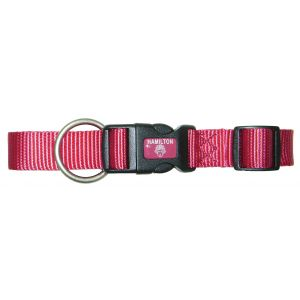 I248197-Hamilton Dog Collar Lux 25mm Rasberry 45-65cm
