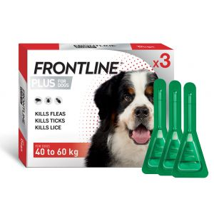I234652-Frontline Plus Flea Treatment For X-large Dogs 40-60kg 3 Pack