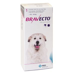 I246745-Bravecto Chewable Tablet Flea Treatment For Xlarge Dogs 40 To 56kg - 1 Pack