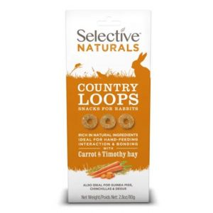 I250923-Selective Naturals Country Loops With Carrot & Timothy Hay 80g