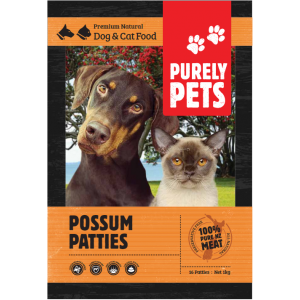 I143417-Purely Pets Frozen Possum Patties Dog Food.