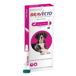 I246868-Bravecto Spot On Flea Treatment For X-large Dogs 40-56kg - Pink 1 Pack