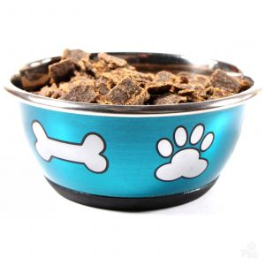 I248881-Durapet Metallic Blue Fashion Dog Bowl 500ml