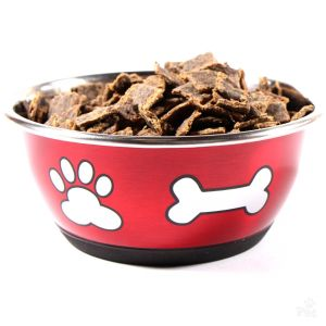 I248882-Durapet Metallic Red Fashion Dog Bowl 500ml