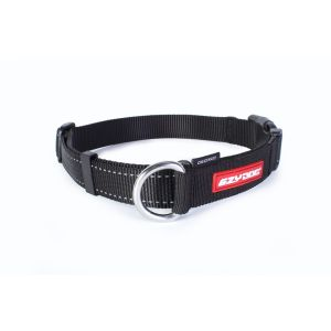 I249034-Ezydog Checkmate Dog Collar Black Medium