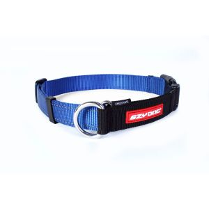 I249032-Ezydog Checkmate Dog Collar Blue Small