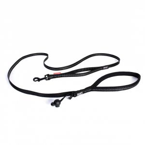 I154173-Ezydog Leash Soft Trainer Lite 12mm Black