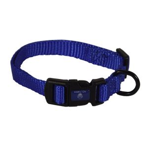 I248446-Hamilton Dog Collar Adjustable Blue 18-30cm