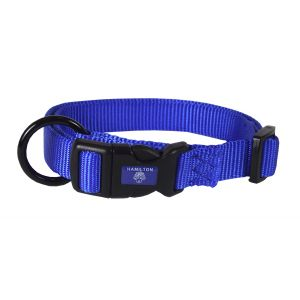I248462-Hamilton Dog Collar Adjustable Blue 30-45cm