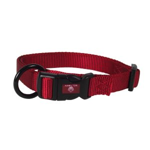 I248463-Hamilton Dog Collar Adjustable Red 30-45cm