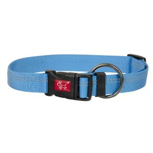 I248485-Yours Droolly Reflective Adjustable Blue Dog Collar M/l 38-58cm