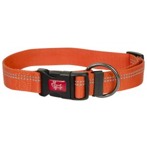 I248487-Yours Droolly Reflective Adjustable Orange Dog Collar M/l 38-58cm