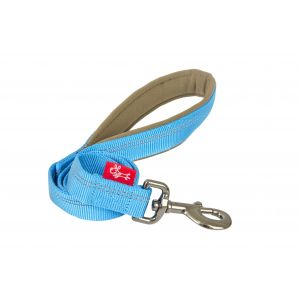 I248491-Yours Droolly Reflective Long Blue Dog Lead 120cm