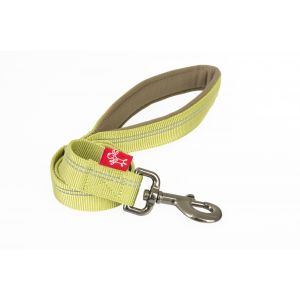 I248492-Yours Droolly Reflective 120cm Green Dog Lead