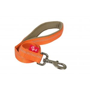 I248493-Yours Droolly Reflective 120cm Long Orange Dog Lead