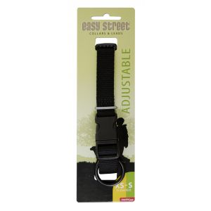 I248517-Yours Droolly Basic Adjustable Dog Collar Black Xs/small 25-42cm