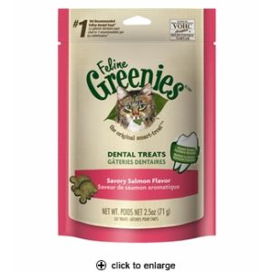 I247305-Greenies Savoury Salmon Cat Treats 71g