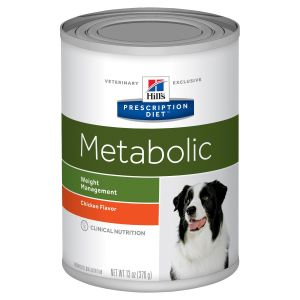 I168981-Hills Prescription Diet Metabolic Weight Solution Dog Food 370g Can