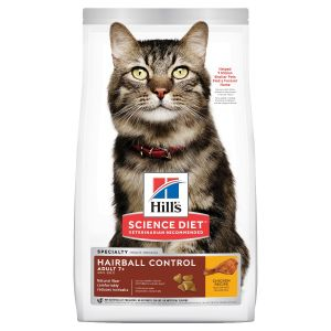 I247704-Hills Science Diet Hairball Control 7+ Adult Cat Food 4kg