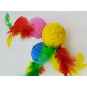 I133040-Mix And Match - Plush Ball And Feather