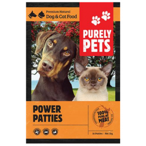 I137968-Purely Pets Frozen Power Patties Dog Food 1KG