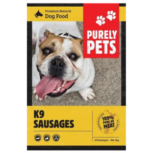 I137969-Purely Pets Frozen K9 Sausages Dog Food.