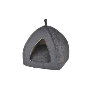 I237010-You & Me Sherpa Cuddly Cave Cat Bed 39x39x37cm